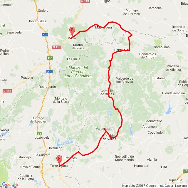 Ruta Riaza-Torrelaguna Pueblos Rojos
