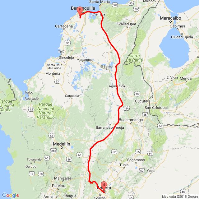Bogotá Baranoa dificil