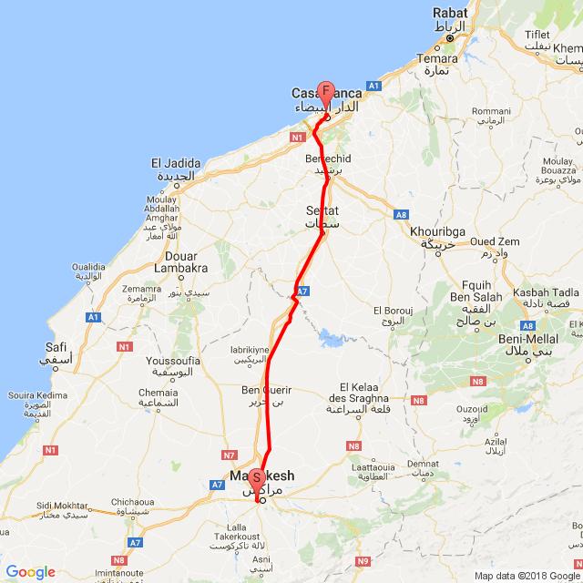 Marrakesh-Casablanca