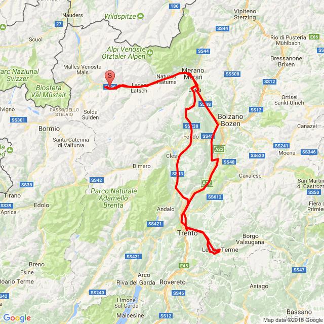 2018.04.08 Szezonnyitó Laas-Bolzano-Ischia-Fondo-Laas