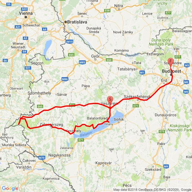 Veszprém - Káli-medence - Őrség - Budapest