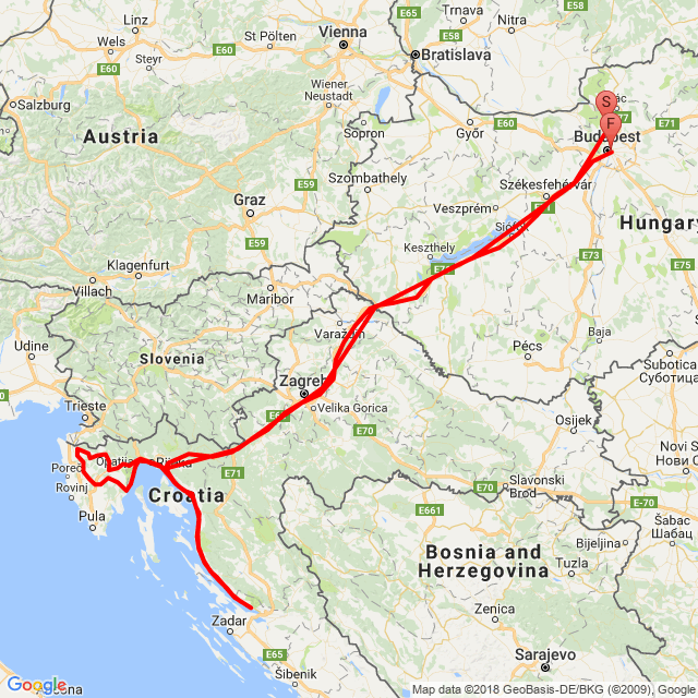 Pomáz - Crikvenica - 8-as út - Isztria - Budapest