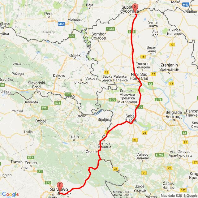 2.nap Palics-Szarajevo