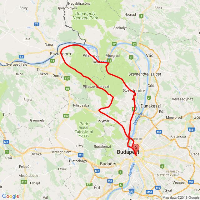 Bp - Visegrád - Pilisvörösvár - Bp