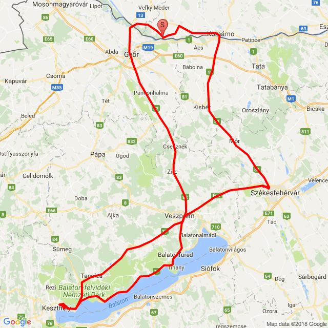 20180512_Kolozsnéma -Fehérvár - Gyenesdiás- Csesznek - Kolozsnéma