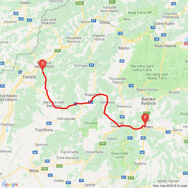 Nemšová-Trenčianske Teplice - Bánovce n. Bebravou - Prievidza - ZH - ZV