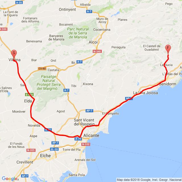 Vuelta  moto almuerzo XIII Villena