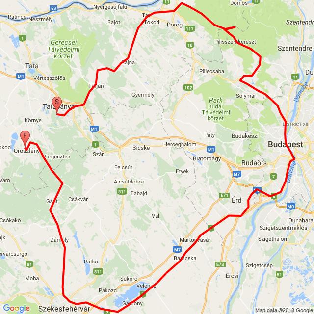 Oroszlány - Dobogókő - Bp- Agárd - Székesfehérvár - Oroszlány