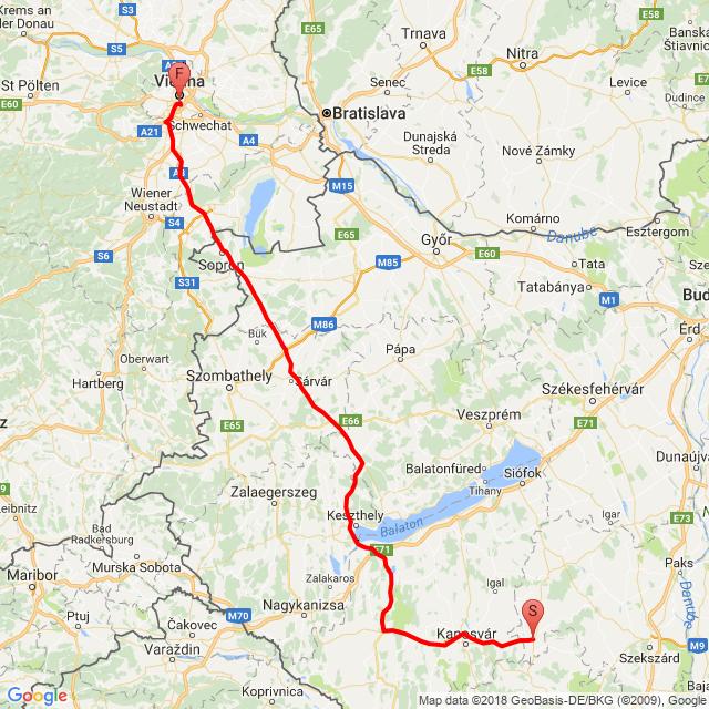Dombóvár-Bécs 2018.06.03.