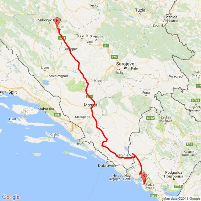 2018_06_11 Balkán-túra 5. nap (Bigova-Mostar-Jajce)