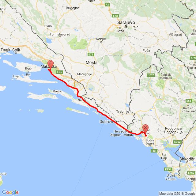 4.nap Kotor - Makarska - Tucepi