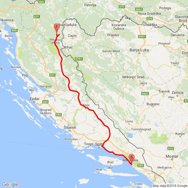 5.nap Makarska - Split - Plitvicei-tavak - Rakovica