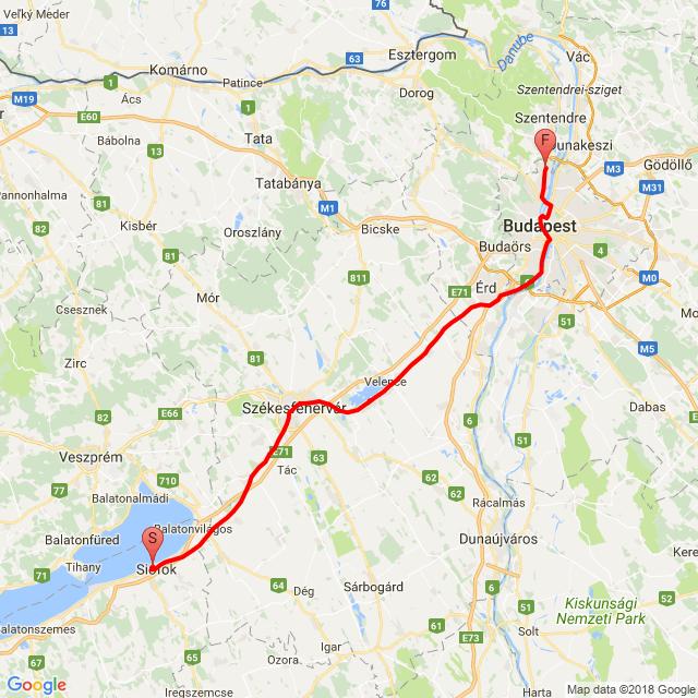 Budapest - Siófok