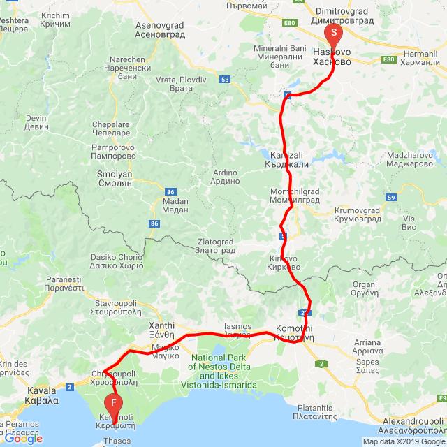 Haskovo - Makaza - Keramoti
