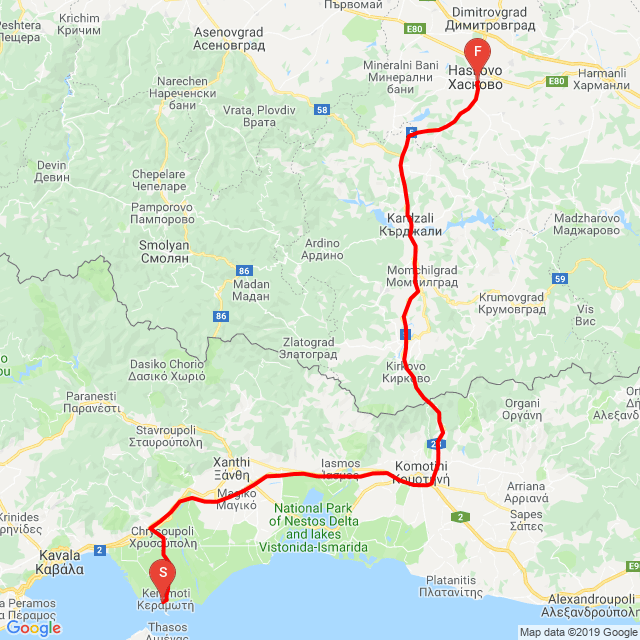 Keramoti - Makaza - Haskovo