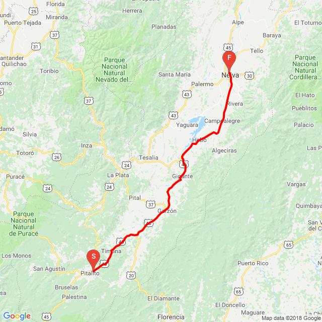 Pitalito-Neiva 17 08 2018