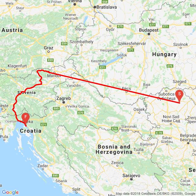 szlovenia-horvatorszag 1.-2. nap