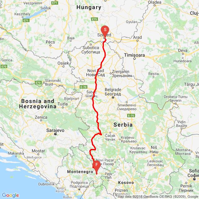 Balkán 1. nap