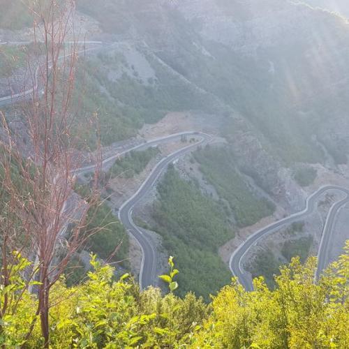 Szerbia - Montenegro - Rraps szerpentin, SH 20 as út Albánia
